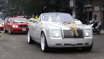 cho thuê xe cưới rolls royce